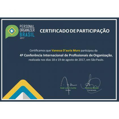 Certificado Vanessa Dauria Muro